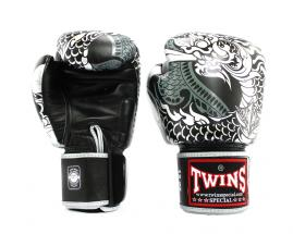 BGVL-6 Twins Special Boxing Gloves Olive Green//Black Deluxe Muay Thai Sparring